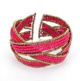 Righe braccialetto in rilievo della Boemia di promozione retro multi & braccialetto, monili di modo
