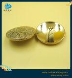 Настраиваемый логотип полые металлические Gold хвостовик шитье мода кнопки