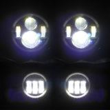 Offroad Jeep Wrangler Car를 위한 RGB Changing Colors 4inch Front Fog Light 7 Inch Round LED Headlight