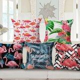 Het tropische Hoofdkussen van de Flamingo van Installaties Digitale Afgedrukte/Decoratieve het Huis van het Kussen