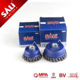 Sali plus d'efficacité de la marque 65mm petite tasse de 0.5mm d'une brosse métallique