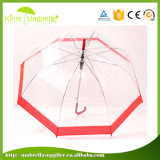 Senhora material Guarda-chuva do guarda-chuva transparente com impressão do edifício
