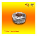 Engranaje helicoidal del pequeño doble del módulo, rueda usada en el reductor metalúrgico de la industria