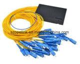 PLC de fibra óptica 1X64 Caixa de plástico divisor para rede sem fio e de aplicação e pode, CCTV