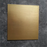 熱い販売の金のカラーによって塗られるブラシをかけられたアルミニウムシートか版またはコイル