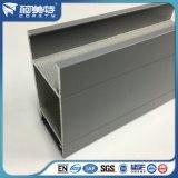 Profil en aluminium personnalisé d'enduit gris de la poudre 6063t5 pour la porte de guichet