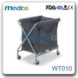 Estrutura em aço inoxidável Resíduos Hospitalares carrinho com dois Mala impermeável