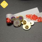 중국 공장 가격 주문 금속 크리스마스 접어젖힌 옷깃 Pin