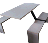 安い鋼鉄木製のファースト・フードのレストランの表および椅子