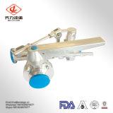 Клапан-бабочки SS304/304L/316/316L санитарные с ручкой соединяют комбинацию клапан-бабочки тройника трехходовую