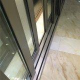 Porta deslizante de alumínio resistente de vidro Tempered do projeto luxuoso