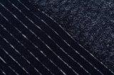Tela hecha punto de lana de la raya de la marina