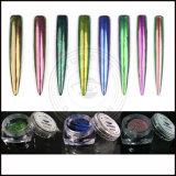 Poudre de sirène de polonais de gel de colorant de chrome d'effet de miroir de caméléon de Chromashift