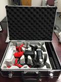 Verschiedener Schönheits-Fall, Werkzeugkasten, Glasaluminiumlegierung, die kosmetischen Fall, Werkzeugkasten faltet