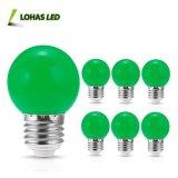 Bulbos pequenos verdes decorativos da esfera do bulbo G14 da esfera da cor da lanterna do diodo emissor de luz da iluminação