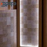 Alinhador longitudinal de mármore branco do mosaico de Carrara no jato Water- para a telha de revestimento da parede