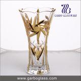 Золотистая стеклянная ваза цветка (GB1508GW-1/D)