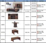 Bureau exécutif de gestionnaire de Tableau de L-Forme de Tableau rectangulaire en bois de bossage