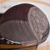 Schwarzer Farben-voller maschinell hergestellter Band-Fall-jüdische Perücke (PPG-l-01060)