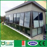 Finestra di alluminio della tenda di prezzi poco costosi con vetro Tempered