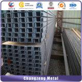 Preto / superfície galvanização U laminadas a quente de aço de canal de aço