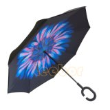 Зонтик Handfree конструкции двойного слоя вверх ногами перевернутый обратный