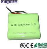 正方形3.6V 1200mAh再充電可能なNiMH電池のパック