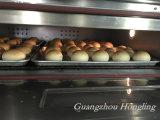 Horno eléctrico del restaurante de la cubierta doble comercial para el pan