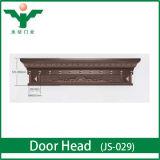 En-tête de porte extérieur en bois solide de Meranti de porte en bois de luxe de villa