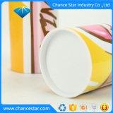 Impresos personalizados papel de la Ronda de tubo de cartón con tapa de plástico