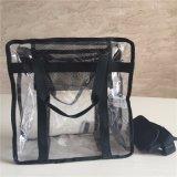 Kurbelgehäuse-Belüftungtransparente preiswerte Tote-Schulter-Format-Handtasche der Frauen glatte