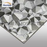 Azulejo de mosaico de cristal gris del europeo del hexágono 260X298m m del cuarto de baño del espesor 8m m