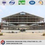 Workshop de Estrutura de aço com canópia saliência