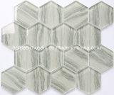 2018 Nuevo mosaico de vidrio hexagonal de inyección de tinta
