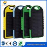 5000mAh banco de Energia Solar Portátil com carregador para telemóvel