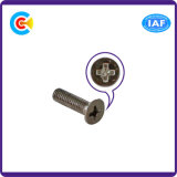 DIN/ANSI/BS/JIS Kohlenstoffstahl/aus rostfreiem Stahl Kreuz vertiefte angesenkte rutschfeste Schraube für elektronisches/Maschinerie/industrielles