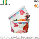 Оптовая торговля 12oz бумаги Мороженое Чаша с крышкой и ложечка