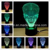 Venta caliente ilusión 3D funciona con batería de la luz de lámpara de acrílico de 3D