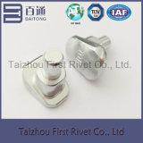 ribattino d'acciaio solido della spalla di colore bianco dello zinco di 10.6X20.5mm per le frizioni