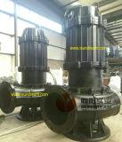 Eléctrico Vertical de la bomba sumergible de Aguas Residuales con carril de guía y acoplamiento automático
