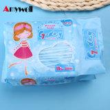 Serviette hygiénique remplaçable imperméable à l'eau de coton à ailes par 300mm