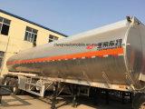 Fuwa 3 Ejes remolque cisterna 45kl cisterna de combustible de aleación de aluminio