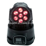 mini LED indicatore luminoso capo mobile della lavata della discoteca di 7X10W