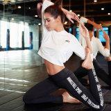 La ginnastica delle 2017 di alta qualità ghette di forma fisica sublimata poliestere su ordinazione mette in mostra i pantaloni di yoga