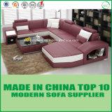 Sofá de couro genuíno de estilo europeu