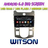 "Witson 9"" на большой экран Android 6.0 DVD для автомобилей KIA Forte автоматический кондиционер версии"