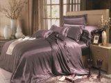Taihuの雪Oekoは高水準のホーム織物の絹の寝具継ぎ目が無いシートの一定の絹の羽毛布団カバー慰める人セットを証明した