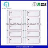 ISO 14443 una tarjeta inteligente con chip A4 F08 Inlay