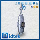 A flange do projeto de Didtek API 6D termina a válvula de porta da laje do aço de carbono
