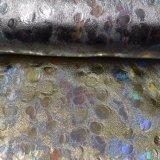 Heiße Goldstempelnpolyester-Gewebe-Wärme, die Beutel-Schuh-Gewebe bronziert